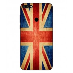 Coque Vintage UK Pour Huawei Honor 7C
