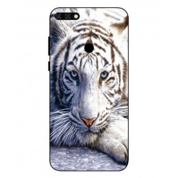 Coque Protection Tigre Blanc Pour Huawei Honor 7C