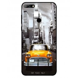 Coque New York Taxi Pour Huawei Y7 2018