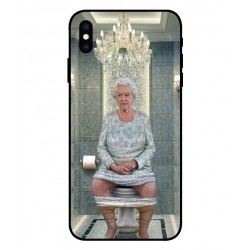 iPhone XS Her Majesty Queen Elizabeth On The Toilet Cover