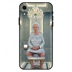 iPhone XR Her Majesty Queen Elizabeth On The Toilet Cover