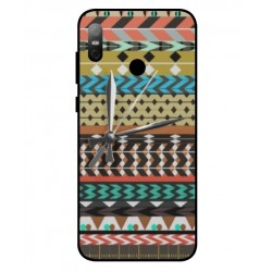 HTC U12 Life Mexican Embroidery With Clock Cover
