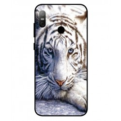 HTC U12 Life White Tiger Cover