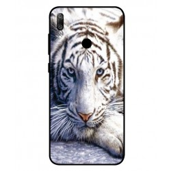 Coque Protection Tigre Blanc Pour Huawei Y6 2019