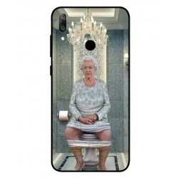 Huawei Y6 2019 Her Majesty Queen Elizabeth On The Toilet Cover