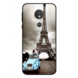 Motorola Moto G7 Power Vintage Eiffel Tower Case