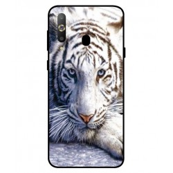 Samsung Galaxy A8s White Tiger Cover