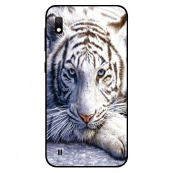 Samsung Galaxy A10 White Tiger Cover