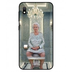 Samsung Galaxy A10 Her Majesty Queen Elizabeth On The Toilet Cover