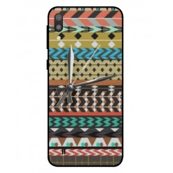 Samsung Galaxy M10 Mexican Embroidery With Clock Cover