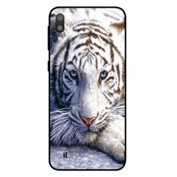 Samsung Galaxy M10 White Tiger Cover