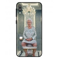 Samsung Galaxy M10 Her Majesty Queen Elizabeth On The Toilet Cover