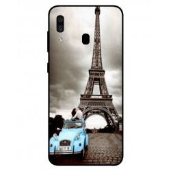 Samsung Galaxy A30 Vintage Eiffel Tower Case