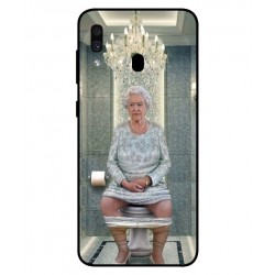 Samsung Galaxy A30 Her Majesty Queen Elizabeth On The Toilet Cover