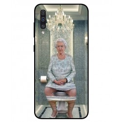 Samsung Galaxy A50 Her Majesty Queen Elizabeth On The Toilet Cover