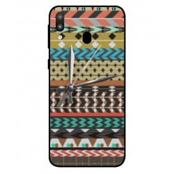 Samsung Galaxy M20 Mexican Embroidery With Clock Cover
