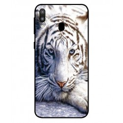 Samsung Galaxy M20 White Tiger Cover