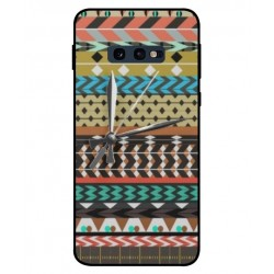 Samsung Galaxy S10e Mexican Embroidery With Clock Cover
