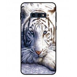 Samsung Galaxy S10e White Tiger Cover
