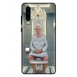 Huawei P30 Her Majesty Queen Elizabeth On The Toilet Cover