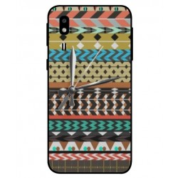 Samsung Galaxy A2 Core Mexican Embroidery With Clock Cover