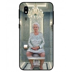 Samsung Galaxy A2 Core Her Majesty Queen Elizabeth On The Toilet Cover
