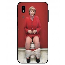 Samsung Galaxy A2 Core Angela Merkel On The Toilet Cover
