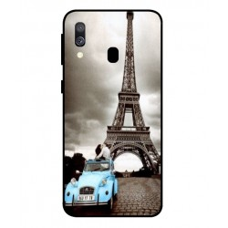 Samsung Galaxy A40 Vintage Eiffel Tower Case