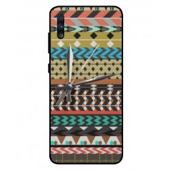 Samsung Galaxy A70 Mexican Embroidery With Clock Cover
