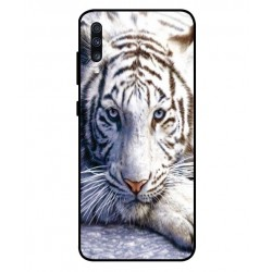 Samsung Galaxy A70 White Tiger Cover