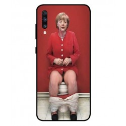 Samsung Galaxy A70 Angela Merkel On The Toilet Cover