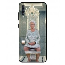 Samsung Galaxy A70 Her Majesty Queen Elizabeth On The Toilet Cover