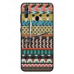 Samsung Galaxy M40 Mexican Embroidery With Clock Cover