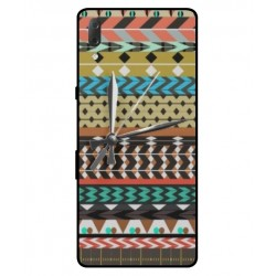 Sony Xperia L3 Mexican Embroidery With Clock Cover