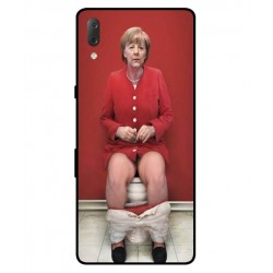 Sony Xperia L3 Angela Merkel On The Toilet Cover