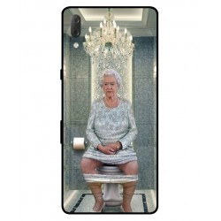 Sony Xperia L3 Her Majesty Queen Elizabeth On The Toilet Cover