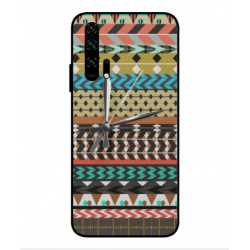 Huawei Honor 20 Pro Mexican Embroidery With Clock Cover