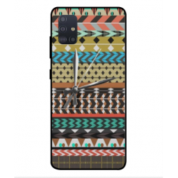 Samsung Galaxy A51 Mexican Embroidery With Clock Cover