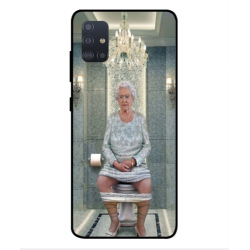 Samsung Galaxy A51 Her Majesty Queen Elizabeth On The Toilet Cover
