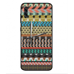 Samsung Galaxy A70s Mexican Embroidery With Clock Cover