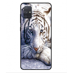 Samsung Galaxy A71 White Tiger Cover
