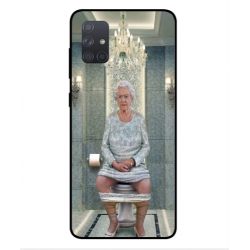 Samsung Galaxy A71 Her Majesty Queen Elizabeth On The Toilet Cover