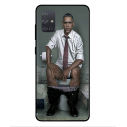 Samsung Galaxy A71 Obama On The Toilet Cover