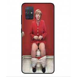 Samsung Galaxy A71 Angela Merkel On The Toilet Cover