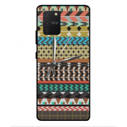 Samsung Galaxy S10 Lite Mexican Embroidery With Clock Cover