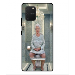 Samsung Galaxy S10 Lite Her Majesty Queen Elizabeth On The Toilet Cover