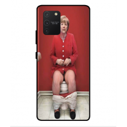 Samsung Galaxy S10 Lite Angela Merkel On The Toilet Cover