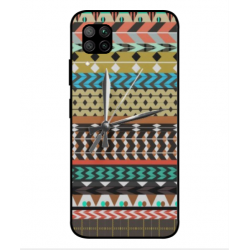 Huawei Nova 6 SE Mexican Embroidery With Clock Cover