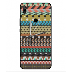 Huawei P Smart Z Mexican Embroidery With Clock Cover