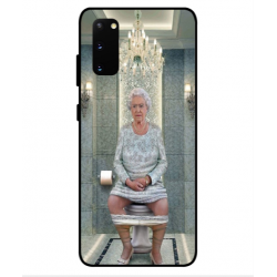 Samsung Galaxy S20 Her Majesty Queen Elizabeth On The Toilet Cover
